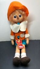 18� Limited Lenci Italian Cloth Felt Doll Pinocchio Puppet Plush Doll W/ Tag #sa