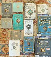 Large Vintage PC Game Lot Baldur's Gate II Icewind Dale Heart of Winter Items