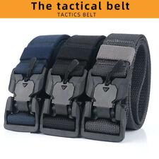 CINTURON hombre hebilla de liberación rápida cinturón magnético Pantalón Militar