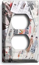 RETRO FASHION MAGAZINE PAGES DUPLEX OUTLET PLATE COVER BOUTIQUE SHOP ROOM DECOR