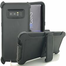 For Samsung Galaxy NOTE8 Shockproof Defender Case With Clip Fit Otterbox BK