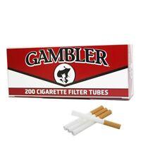 3x Boxes Gambler Full Flavor KING SIZE  ( 600 Tubes )  Cigarette Tube Tobacco