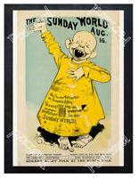 Historic The Sunday World Aug. 16, The Yellow Kid Advertising Postcard