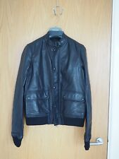 DIESEL BLACK GOLD LEATHER BOMBER BIKER JACKET IT44 UK34 XS FLIGHT JEANS