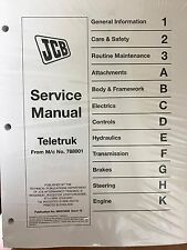 JCB Service TELETRUK 2.0-D/G, 2.5-D/G, 3.0-D/G Manual