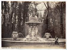Espagne, Aranjuez, fuente de Narciso  Vintage albumen print, Tirage albuminé