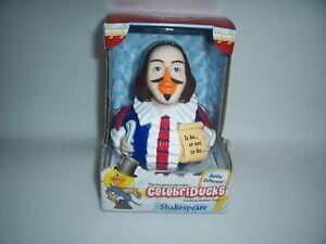 Celebriducks Rubber Ducky William Shakespeare Duck Bath Toy NIB