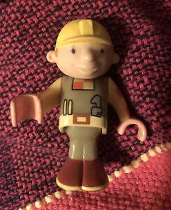 "Brio BOB the BUILDER 2"" action figure Rare limited release wooden train item"