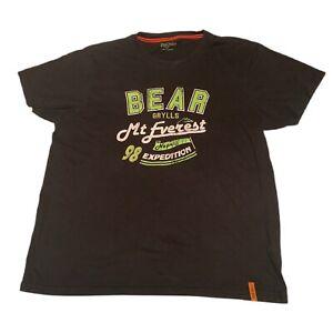 Bear Grylls Craghoppers Black T Shirt Size M Mt Everest Nepal 98 Expedition