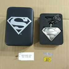 Superman Classic S-Shield Pocket Watch by Fossil 2001 DC Direct