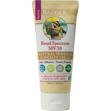 Badger Naturally Unscented Sunscreen with Zinc Oxide SPF30 87ml