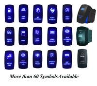 5pin 7pin Car Boat Blue LED Light Bar Rocker Switch Rear View Camera, 69 Designs