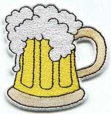 Mug of beer glass pint stein embroidered applique iron-on patch S-1434