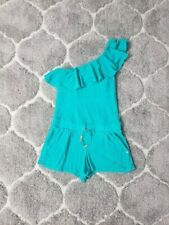 38e0b028b7ff Juicy Couture Terrycloth Romper One Shoulder Ruffle Cover-Up Green Size  Small