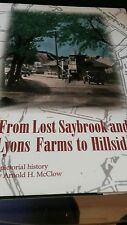 From Saybrook And Lyons Farms To Hillside:   A Pictorial History New Jersey