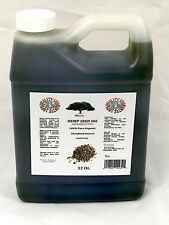 PURE HEMP SEED OIL 100% Pure ORGANIC UNREFINED  32 Oz EXTRA VIRGIN OIL COLD PRES