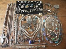 C8 Estate vintage sterling jewelry lot bracelets, necklaces, rings... YOU PICK!