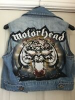 Motorhead Overkill Cropped Denim Waistcoat Jacket Heavy Metal Rock N Roll 10