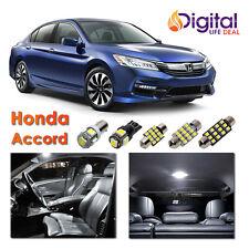 12 x White Interior LED Lights Package Kit for 2013 - 2017 Honda Accord