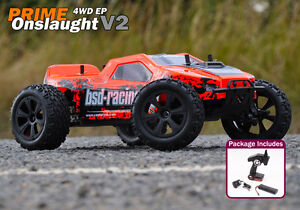 BSD Racing Prime Onslaught V2 RC Truck 1/10 Scale 4wd - Inc Battery and Charger
