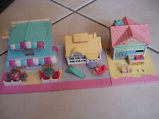 3 Maisons vintage POLLY POCKET BLUEBIRD Pizza café Toys