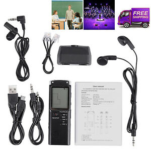 16GB Digital Audio Sound Voice Recorder Dictaphone MP3 Player Rechargeable UK