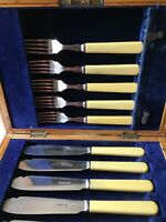 Antique William Hutton & Sons Silver Plate Fish Eaters Cutlery Set
