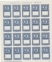 Liberia 1952 Imperf Error Mint Never Hinged Stamps Sheet Ref 35938