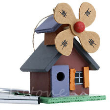 New 4 Tubes Wood House Wind Chimes Windmill Cabins Copper-tone Garden Decor Gift