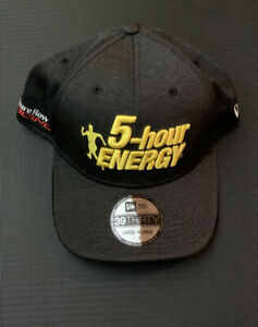 Men's Martin Truex Jr New Era 5-hour Energy Driver 39Thirty Flex Hat NWT L/XL
