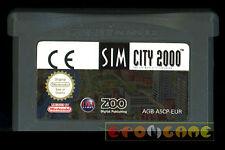 SIM CITY 2000 Gameboy Advance Gba Versione Europea SimCity ••••• CARTUCCIA