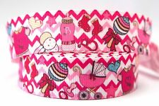 1M X 22mm Grosgrain Ribbon Craft DIY Cake Decorations Hair Bows - Baby Girl