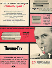 PUBLICITE ADVERTISING 124 1960  MINNESTOTA   le THERMO-FAX  photocopieur