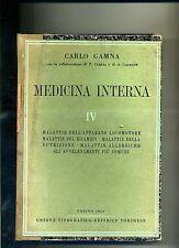 Carlo Gamna # MEDICINA INTERNA IV # UTET 1950