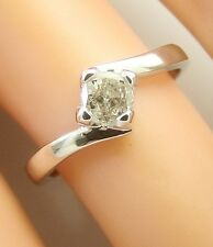 0.30 ct solitaire real diamond wedding engagement ring 18k white gold ring
