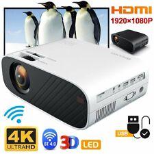 4K HD 1080P Home Cinema LED Android 6.0 Wifi Wireless Projector HDMI USB AV VGA