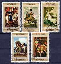 Chevaux Yémen (11) série complète de 5 timbres oblitérés