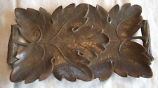 Vintage 1940s Syroco Wood Composite Wood Tray - Maple Leaves