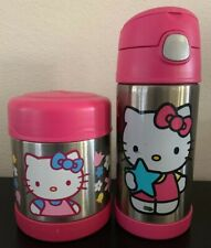 THERMOS HELLO KITTY LOT ✿ 10 oz food jar Vacuum Insulated Stainless 12 oz bottle