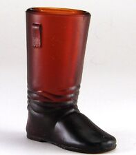 Libby Glass 1937 Novelty Tall Work Boot Glass Toothpick Holder Cola Brown
