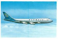 Olympic Airways Boeing 747-200 B  Jumbo Jet Aeroplane Rare Greece Postcard 2