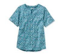L.L. Bean Easy Cotton Shirt Cool Teal Size Small UK 6-8 rrp £34 DH087 KK 14