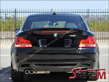 2008+ BMW E82 128i 135i Coupe Painted 668 Black Performance Trunk Spoiler Lip