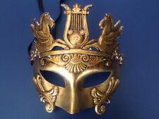 Gold Roman Warrior Greek Venetian Masquerade Mardi Ball Custome Party Mask Men