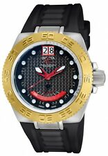 Invicta 10883 Mid-Sized Subaqua Noma Black Dial Gold tone Bezel Watch