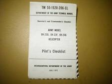 Hiller OH-23 Raven Helicopter Pilot's Checklist for OH-23D, OH-23F & OH-23G