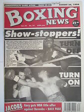 Boxing News 26 Aug 1994 Eubank Storey Hamed Picardi Robin Reid Michael Carruth