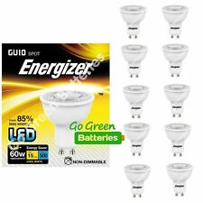 10x Energizer GU10 5.8 W = 60W LED Bulb Spotlight 500 Lumens Cool White