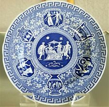 """Spode Blue & White Blue Room Collection Greek 9"""" Luncheon Plate England Lunch"""