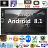 """Android 8.1 Car Stereo GPS Navigation Radio Player Double 2Din WiFi 7"""" Quad Core"""